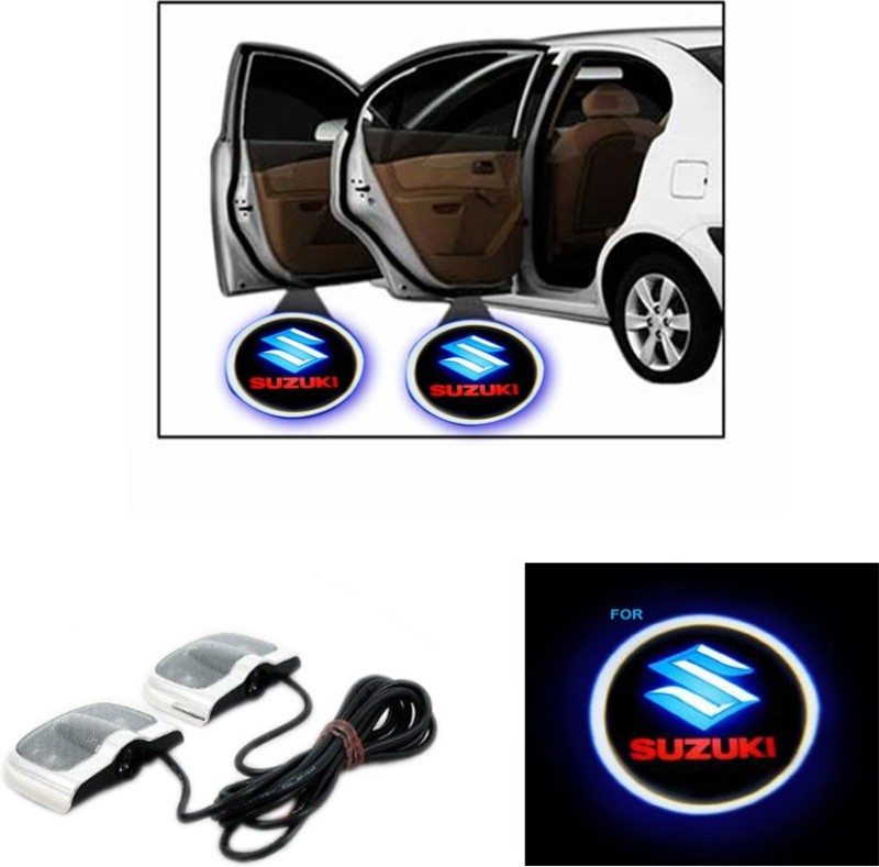 AutoKraftZ LED Shadow Logo For Suzuki 11 Car Fancy Lights(Multicolor)