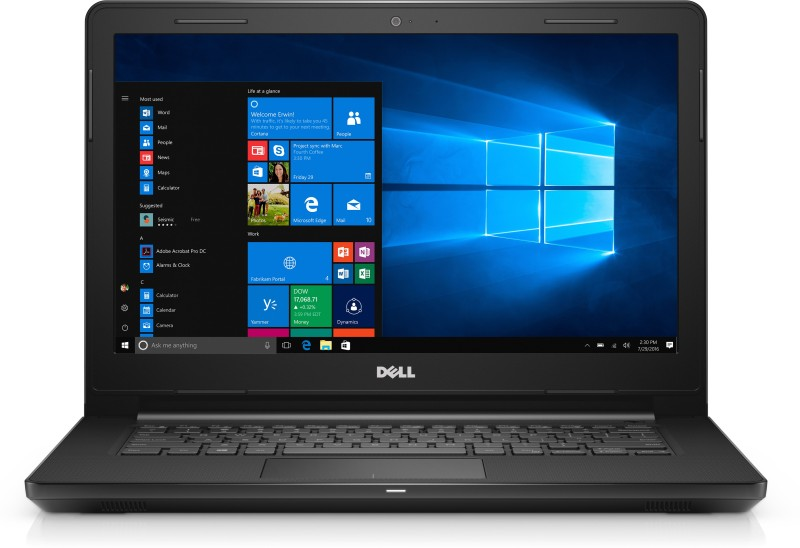 Dell Inspiron Core i3 6th Gen - (4 GB/1 TB HDD/Windows 10 Home) 3467 Laptop(14 inch, Black, 1.956 kg)