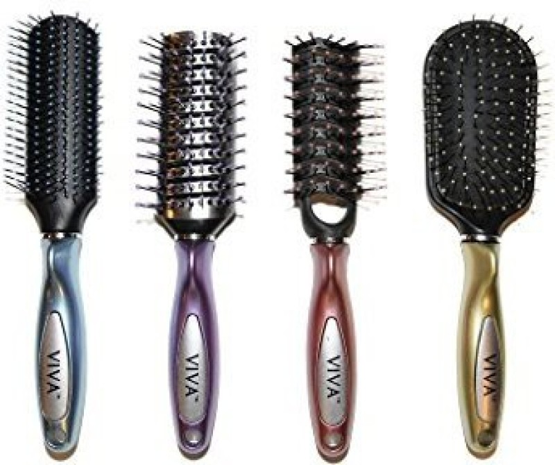 Viva Brilliance Professional Hair Brush Set (4 Pack)