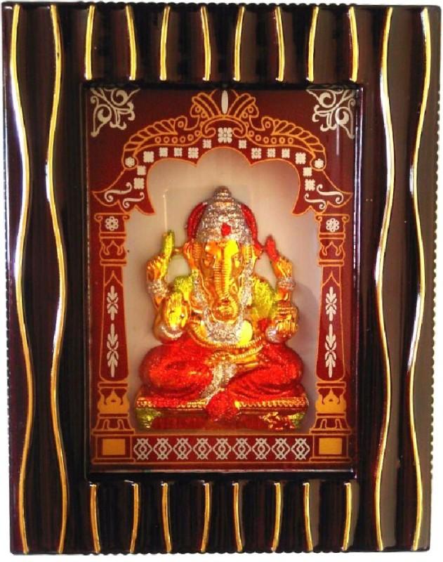 Divine Temples Ganesha Religious Frame