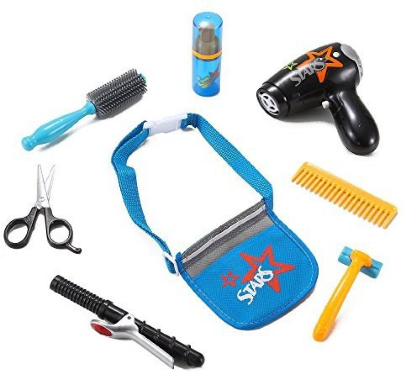 Liberty Imports Stylist Beauty Salon Fashion Play Set with Hairdryer, Curling Iron, Tool Belt & Styling Accessories by Liberty Imports