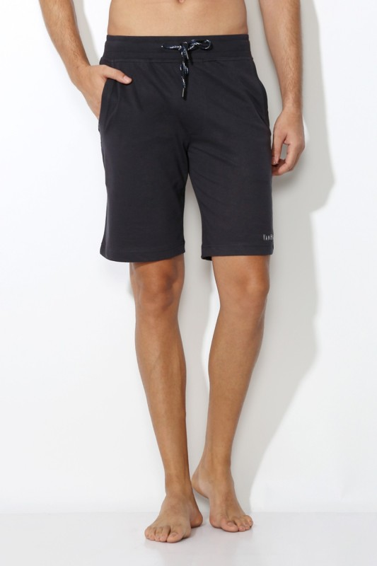 Van Heusen Solid Men's Grey Basic Shorts