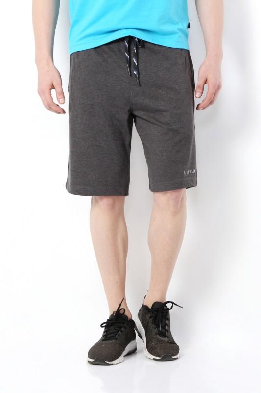 Van Heusen Solid Men's Grey Basic Shorts