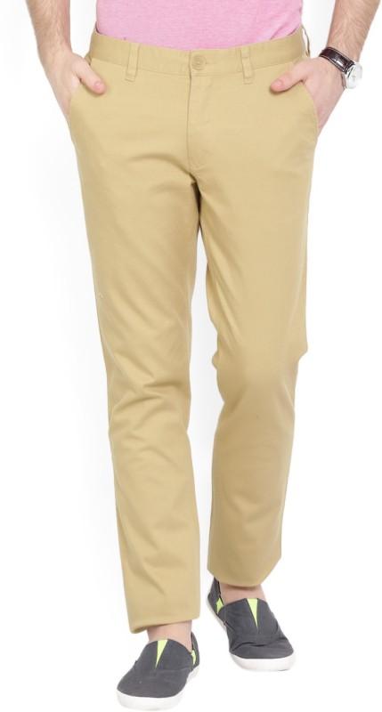 John Players Slim Fit Mens Brown Trousers