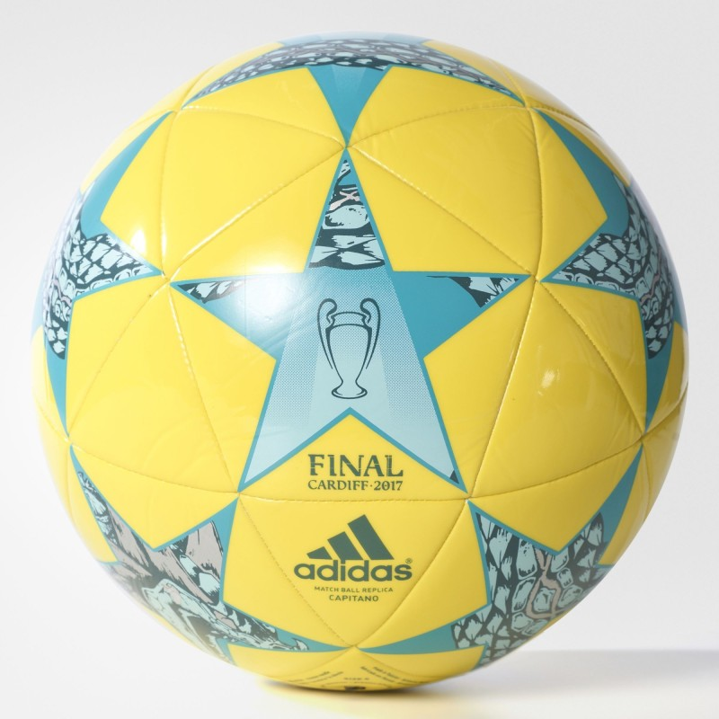 Adidas Finale CDF Cap Football - Size: 5(Pack of 1, Bright Yellow, Clear Aqua, Energy Blue S17)