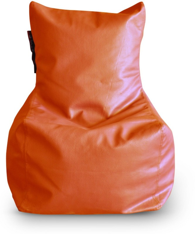 Home Story Large Bean Bag Cover (Without Beans)(Orange)