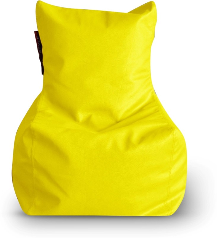 Home Story Large Bean Bag Cover (Without Beans)(Yellow)