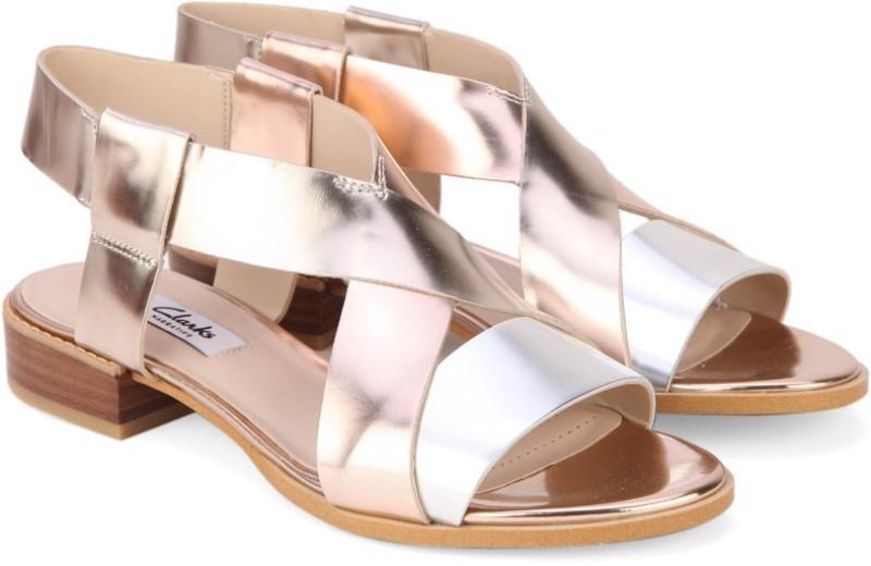 Clarks Women Metallic Combi Flats