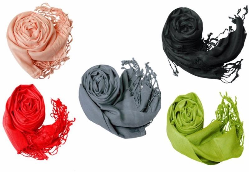 Stylezee Viscose Solid Womens Shawl(Multicolor)