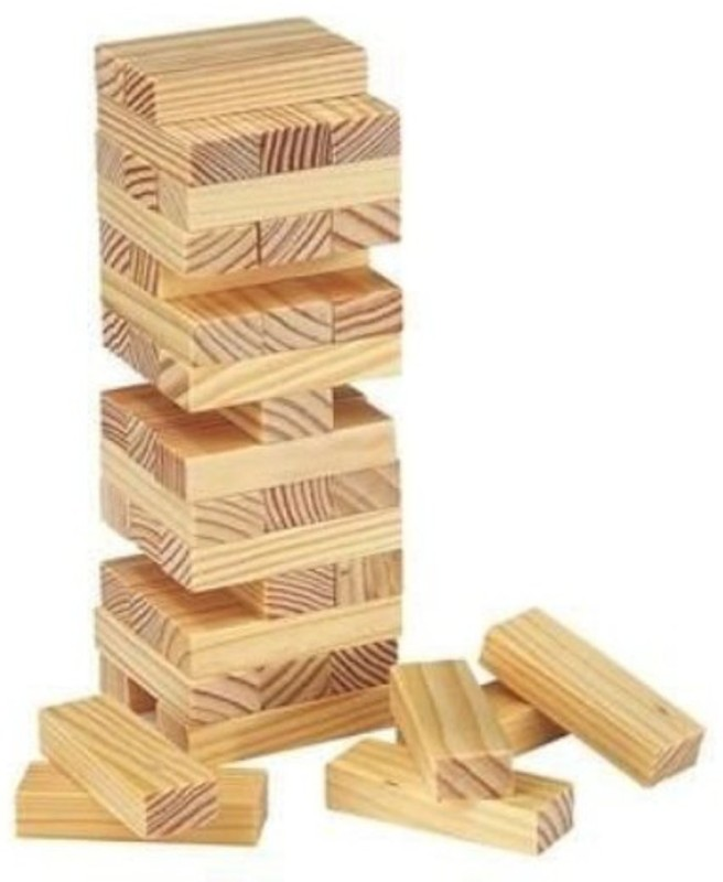 Skywalk Happy Zone Tumbling Tower Jumbo Toppling Extra Large Stacking Game(Multicolor)