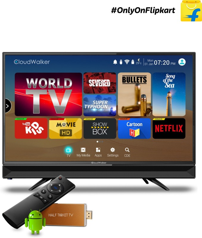 CloudWalker 60cm (23.6 inch) HD Ready LED TV(CLOUD TV24AH)