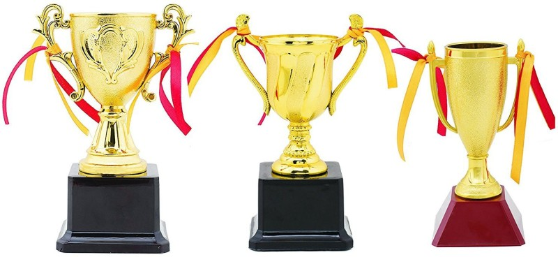 Aark India Trophy/Award For Sports And Corporates - (Set Of Three) (PC 00274) By Aark India Trophy(6.5x5.5 Inches)