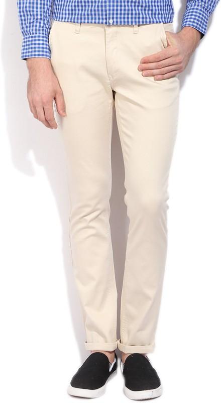 John Players Slim Fit Mens Beige Trousers
