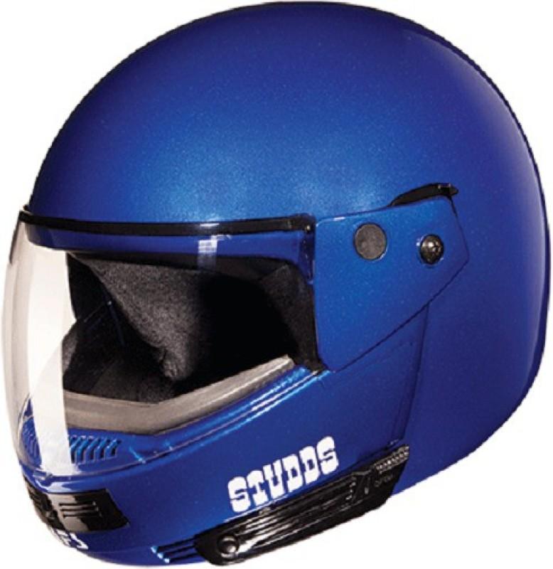 Studds Ninja Pastel Plain Motorsports Helmet(Flame Blue)