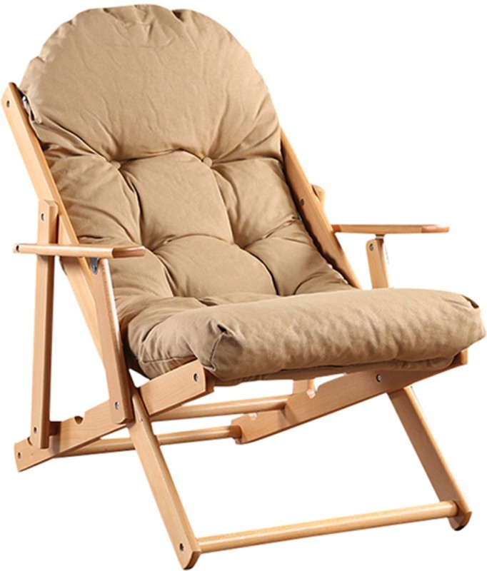 HomeTown Tulip Solid Wood Living Room Chair(Finish Color - Beige)