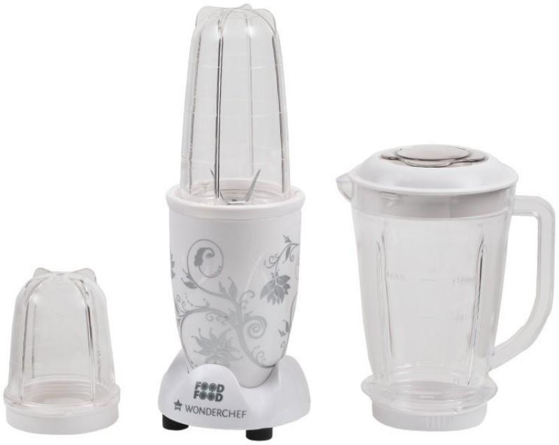 Wonderchef WC WITH JAR 400 W Juicer Mixer Grinder(White, 3 Jars)