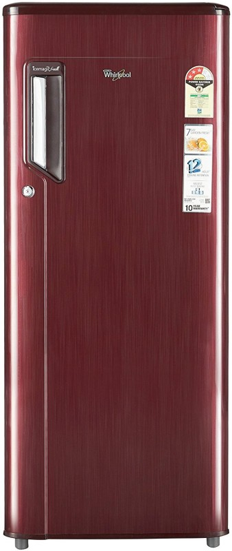 Whirlpool 200 L Direct Cool Single Door Refrigerator(Wine Titanium, 215...