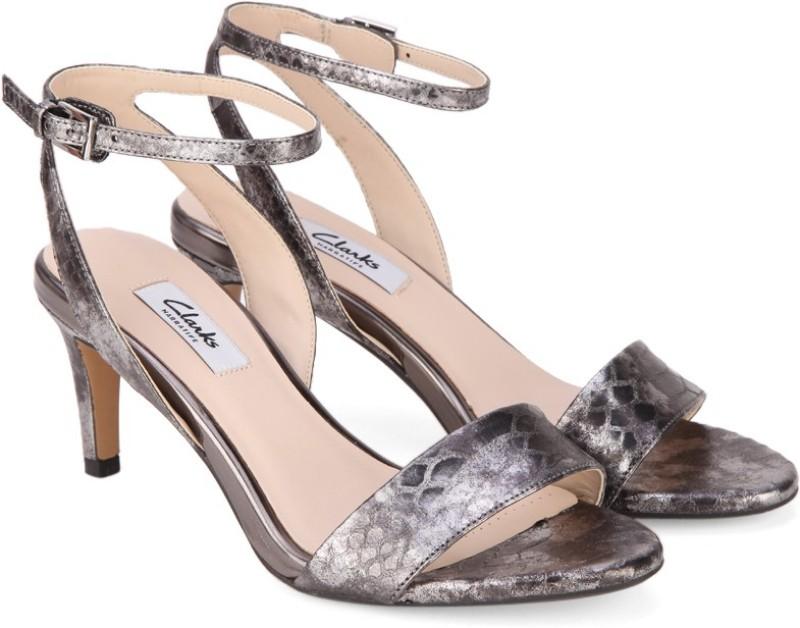 Clarks Women Silver Heels