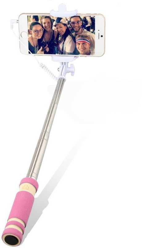Voltaa #SELFY Cable Selfie Stick(Pink)