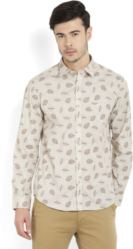 John Players Mens Printed Casual Spread Shirt