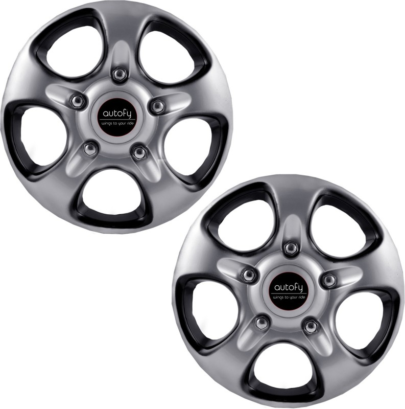 Autofy (Set of 2) 16 inch 5 Spokes Snap-On Wheel Cover For Opel, Ford, Hyundai, Nissan, Maruti, Skoda, Mahindra, Honda Mondeo, Sonata, Terracan, X-Trail, Grand Vitara, CR-V, Scorpio, Octavia(40.64 cm)