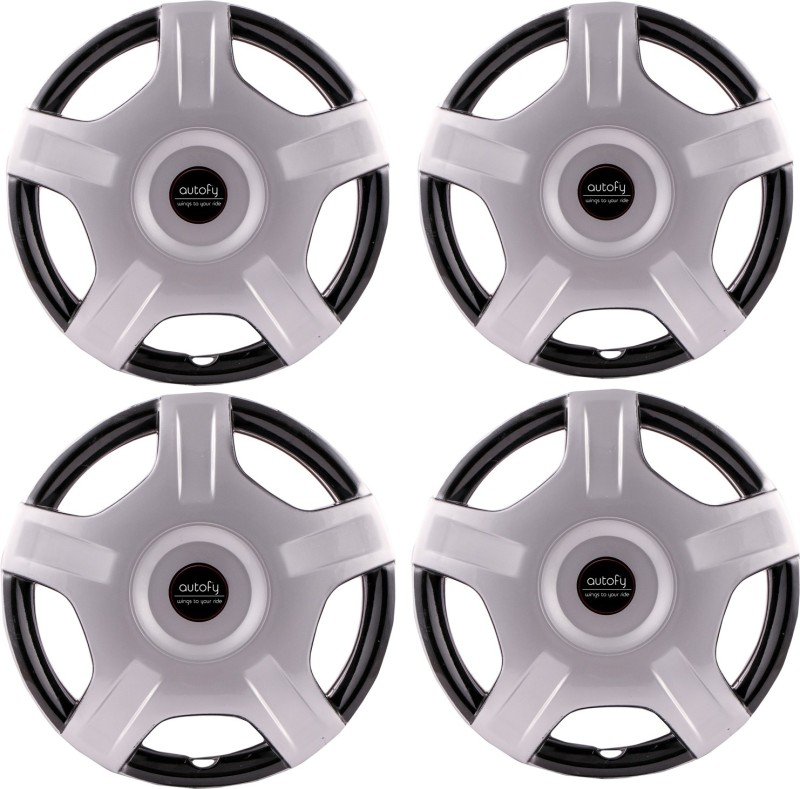 Autofy (Set of 4) 12 inch Star Shaped 5 Spokes Snap-On Universal Wheel Cover For Maruti, Honda, Ford, Mahindra, Tata, Toyota, Renault Alto, Zen, Fiesta, Swift Dzire, Xylo, New Swift, Innova, Logan, Ecosport, XUV, Manza, New City(30.48 cm)