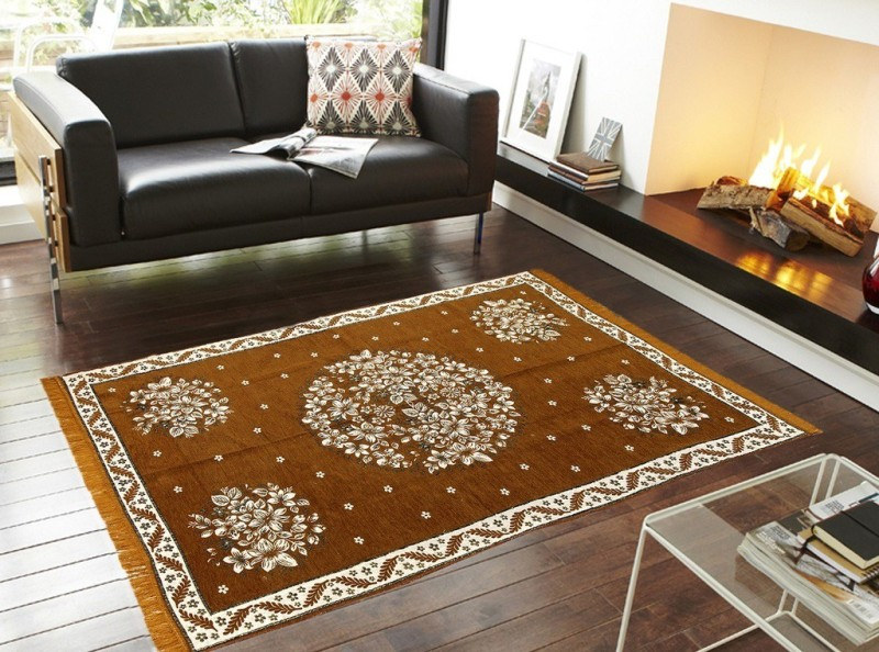 Aazeem Multicolor Velvet Carpet(152 cm X 218 cm)