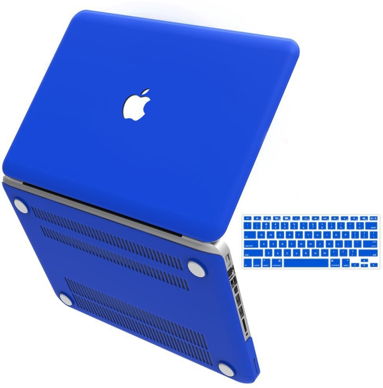 "Shopizone Rubberized Hard Shell case with keyboard skin for Macbuk pro 13""retina Blue colour Combo Set(Blue)"