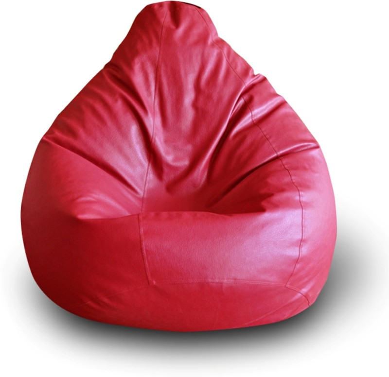 Home Story XXL Bean Bag Cover (Without Beans)(Red)