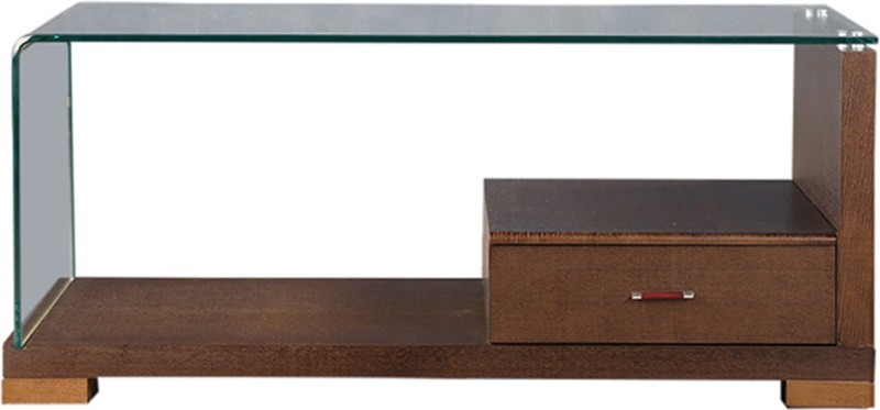 HomeTown Emily Glass Coffee Table(Finish Color - Dark Brown)