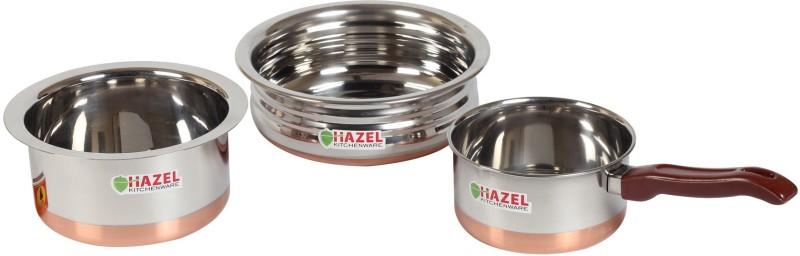 Hazel Cookware Set(Stainless Steel, 3 - Piece)