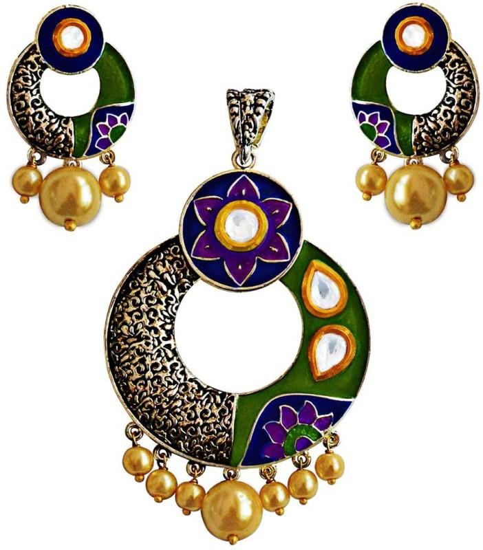 MK JEWELLERS Brass Jewel Set(Multicolor)