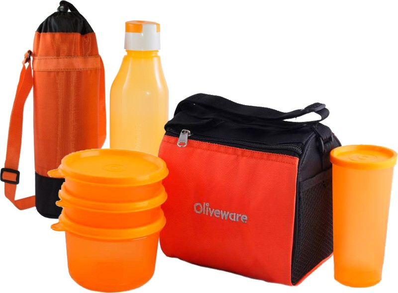 Oliveware Quick Carry Plus Combo 4 Containers Lunch Box(1000 ml)