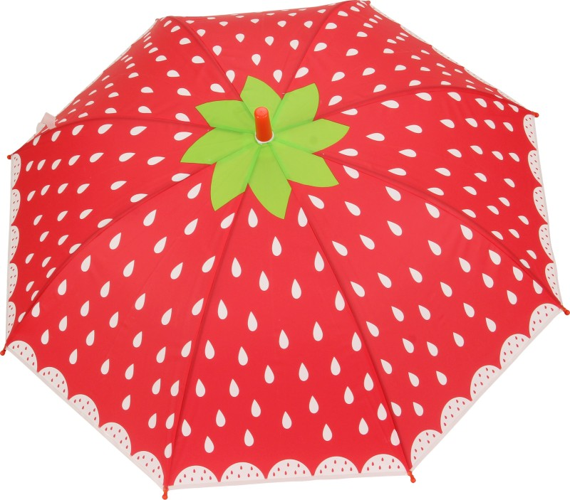 FabSeasons Strawberry Print for Kids Umbrella(Red)