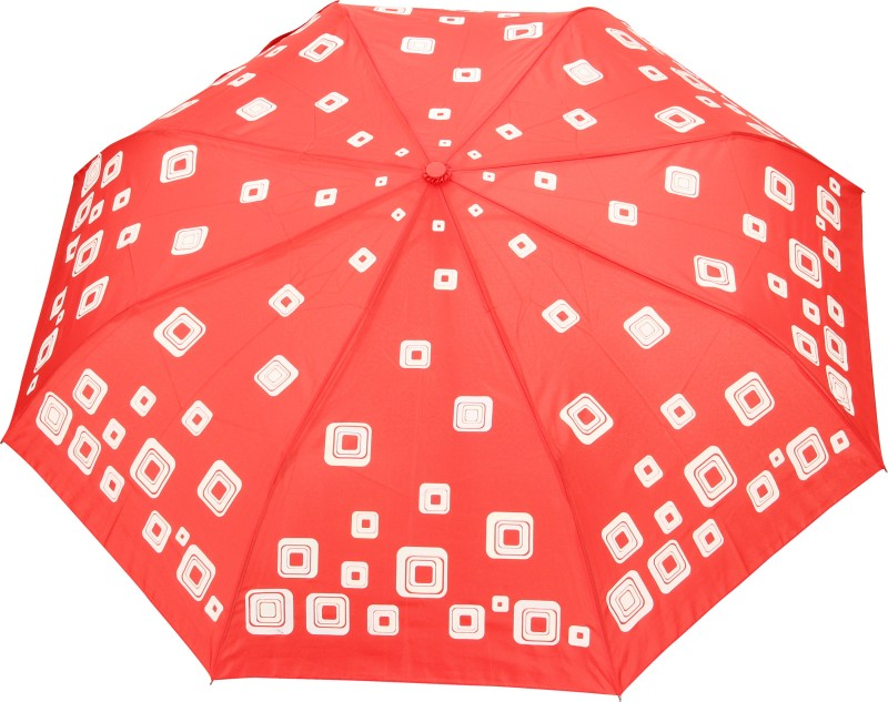 FabSeasons Printed Umbrella(Red)