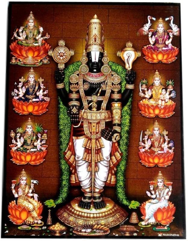 Divine Temples Ashta Lakshmi Venkateshwar Swamy Religious Frame