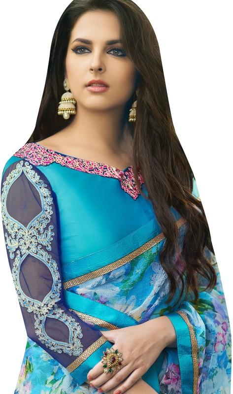 Shaily Retails Embellished Fashion Cotton Linen Blend Saree(Multicolor)