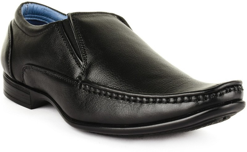 Buckle Up Formal Leather Shoes Slip On For Men(Black)