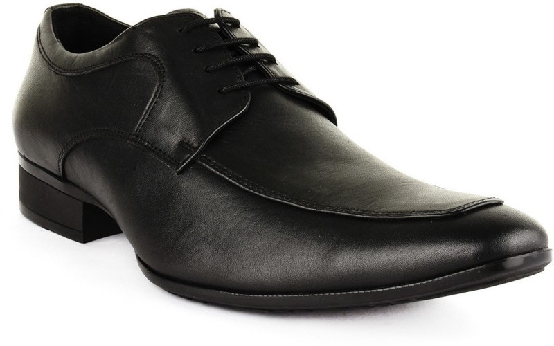 Buckle Up Formal Leather Shoes Lace Up For Men(Black)