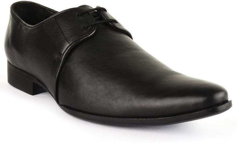 Buckle Up Formal Leather Shoes Lace Up(Black)