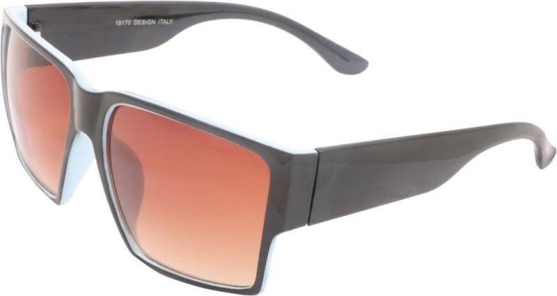 ESHTYLE RETRO Retro Square, Wrap-around Sunglasses(Brown)