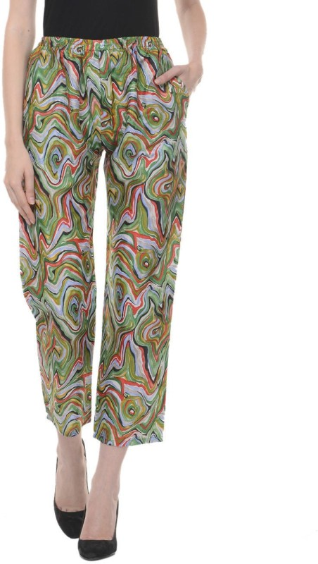 Lavennder Regular Fit Womens Green Trousers