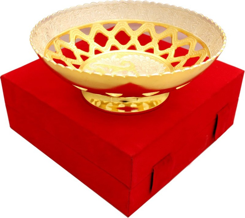Raj Laxmi GS 2 tone Round Shape Single Bowl Bowl Spoon Tray Serving Set(Pack of 1)