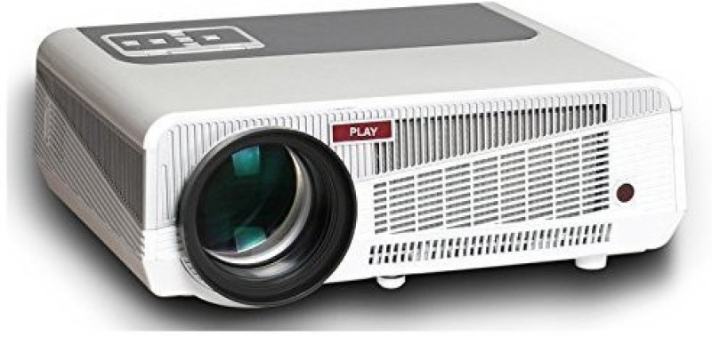 PLAY 5500 lm LED Corded Portable Projector(White, Grey, Black) image