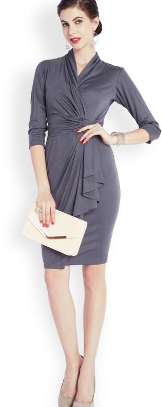 Park Avenue Women's Bodycon Purple Dress