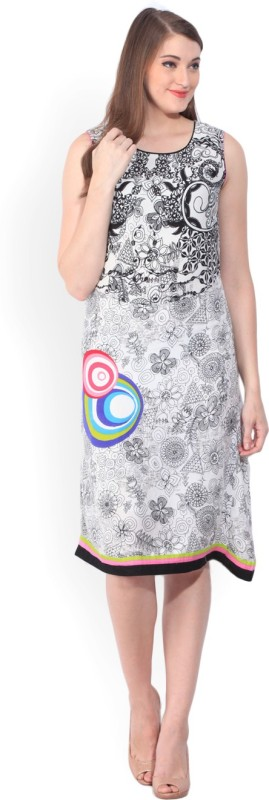 Biba Womens Shift Multicolor Dress