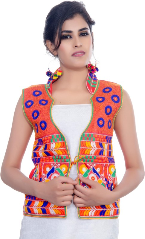 Banjara India Sleeveless Embroidered Women's Jacket