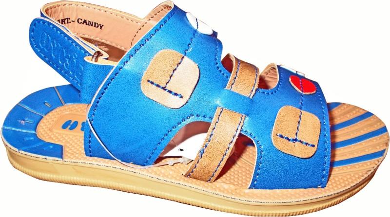 HY-KID Boys & Girls Velcro Sports Sandals(Beige)