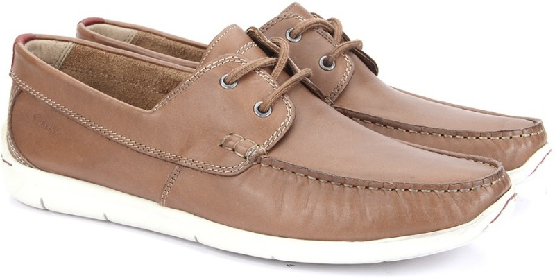 Clarks Karlock Step Tan Leather Loafers For Men(Tan)