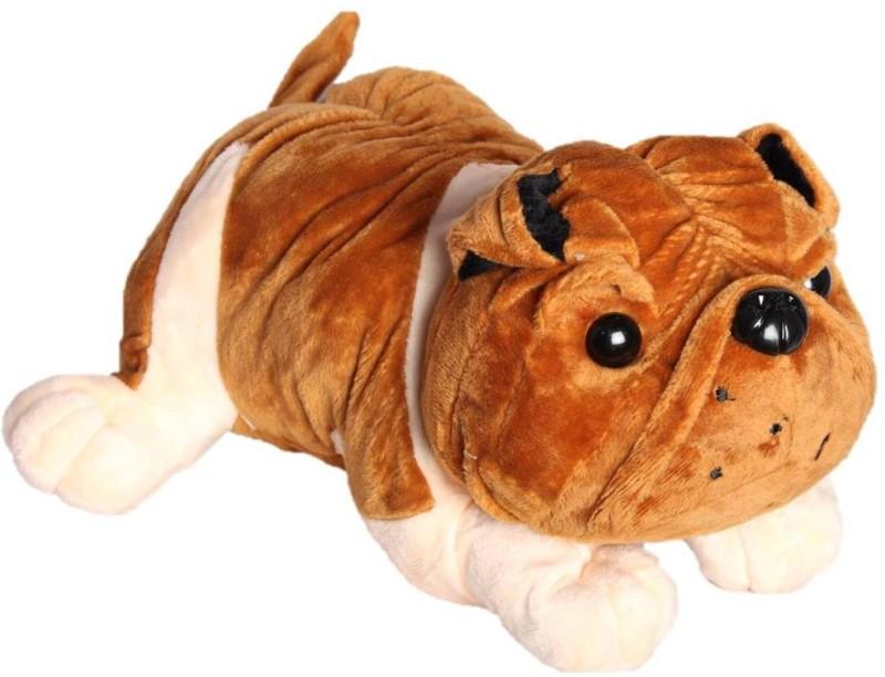 ToyJoy Bulldog 24 cm Brown dog soft plush stuffed dog - 24...